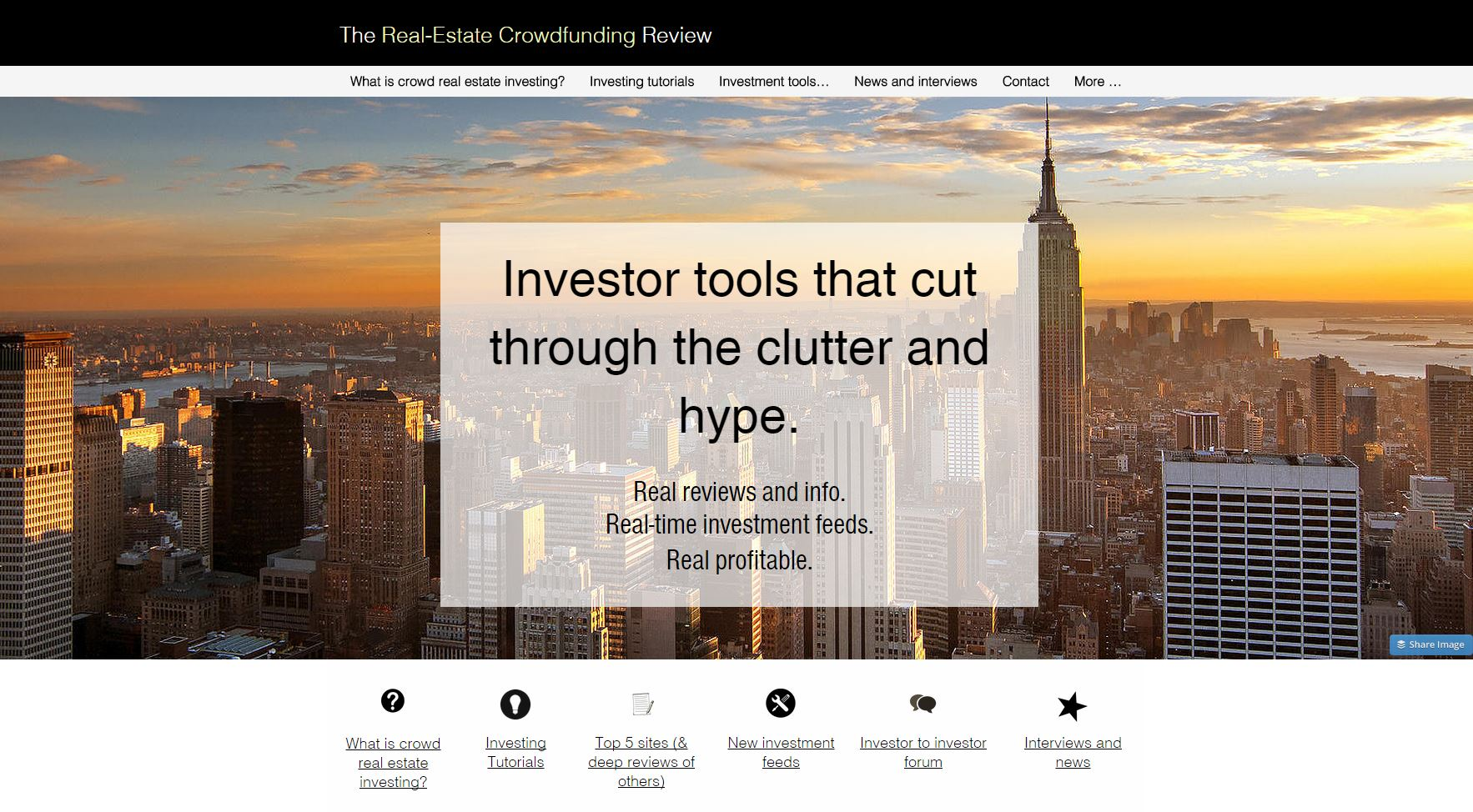 Real estate crowdfunding review screenshot