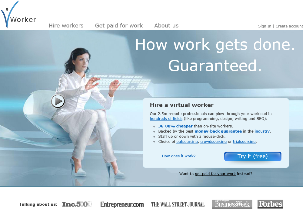 vWorker screenshot